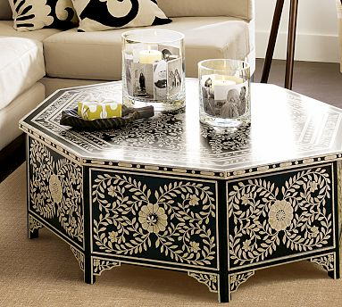 Gentil Pottery Barn Painted Coffee Table