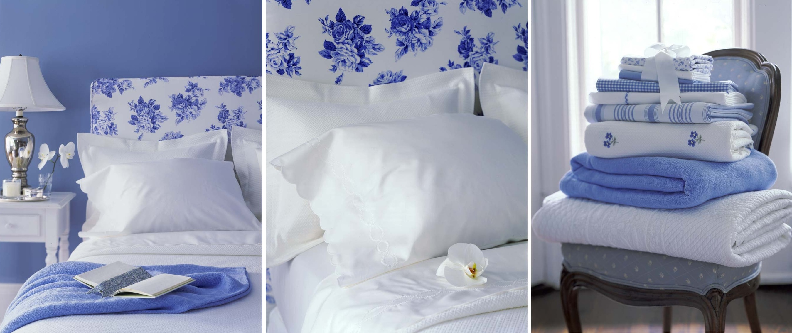 Blue and white bedding - By Anna Williams