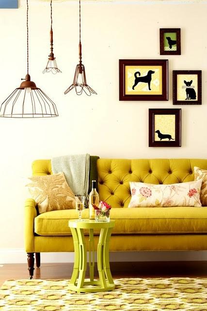 Mustard Yellow Sofa Velvet Palette