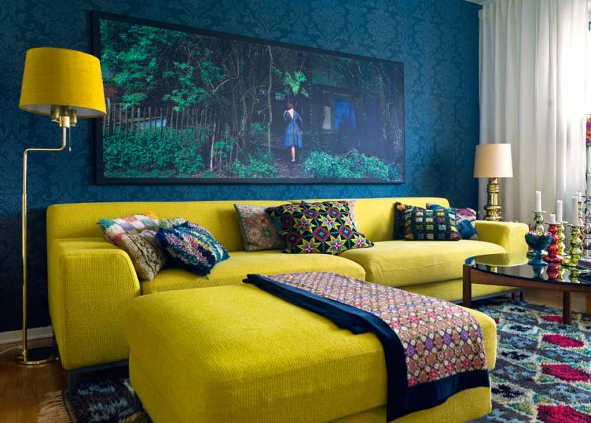 Wonderful Mustard Yellow and Blue Living Room 839 x 600 · 79 kB · jpeg