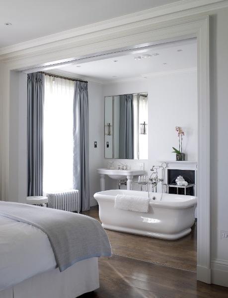 bathtub in bedroom velvet palette