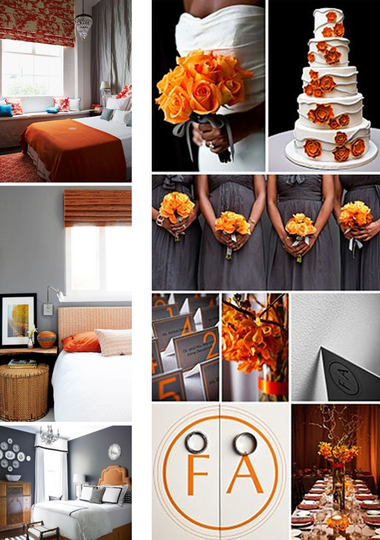 Grey And Orange >> Grey And Orange Wedding Theme Velvet Palette
